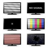 Iconos de la TV Fotos de archivo
