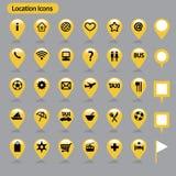 Iconos de la ubicación Imagenes de archivo