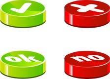 Iconos de la validación Imagen de archivo libre de regalías