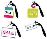Iconos de la venta Imagen de archivo libre de regalías