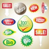 Iconos de la venta Fotografía de archivo libre de regalías