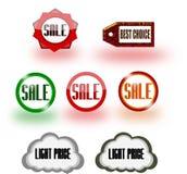 Iconos de la venta Imagen de archivo