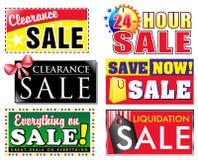 Iconos de la venta del descuento de la separación stock de ilustración