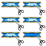 Iconos de la venta, oferta especial, descuento Foto de archivo