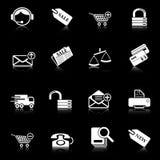 Iconos de la venta y de las compras Foto de archivo