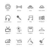 Iconos de la vida de cada día Imágenes de archivo libres de regalías