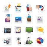 Iconos de la votación y de las elecciones Imagen de archivo libre de regalías