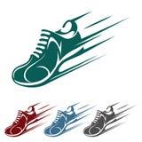 Iconos de la zapatilla deportiva que apresuran Imagen de archivo