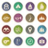 Iconos de Label del boy scout Imágenes de archivo libres de regalías