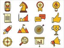 Iconos de lanzamiento de la solución del negocio del vector Foto de archivo libre de regalías