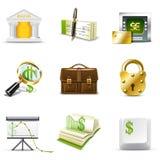 Iconos de las actividades bancarias | Serie de Bella ilustración del vector
