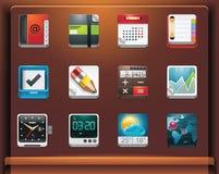Iconos de las aplicaciones stock de ilustración