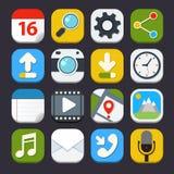 Iconos de las aplicaciones móviles Imagen de archivo libre de regalías