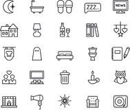 Iconos de las buenas noches Foto de archivo