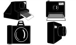 Iconos de las cámaras Fotografía de archivo libre de regalías