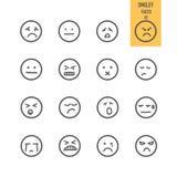 Iconos de las caras del smiley fijados libre illustration