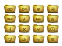 Iconos de las carpetas del vector diversos fijados Imagen de archivo libre de regalías