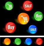 Iconos de las compras. Imagenes de archivo