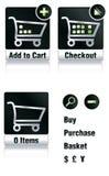 Iconos de las compras Foto de archivo
