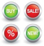 Iconos de las compras Imagenes de archivo