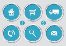 Iconos de las compras Fotografía de archivo libre de regalías