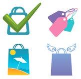 Iconos de las compras Imagen de archivo libre de regalías