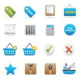Iconos de las compras | Añil Serie 02 Fotografía de archivo libre de regalías
