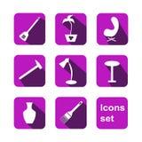 Iconos de las compras fijados Vector foto de archivo libre de regalías
