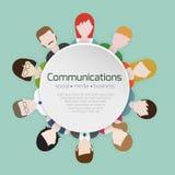 Iconos de las comunicaciones de la gente Imagen de archivo libre de regalías