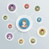 Iconos de las comunicaciones de la gente Foto de archivo libre de regalías