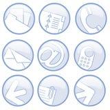 Iconos de las comunicaciones empresariales Fotografía de archivo