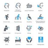 Iconos de las condiciones y de las enfermedades de salud Fotos de archivo