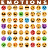 Iconos de las emociones ilustración del vector