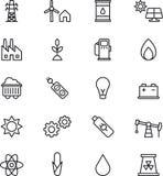 Iconos de las energías stock de ilustración