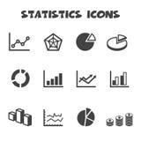 Iconos de las estadísticas Imagen de archivo libre de regalías