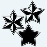 Iconos de las estrellas fijados Fotografía de archivo
