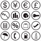 Iconos de las finanzas Imagen de archivo