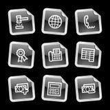 Iconos de las finanzas 2, etiqueta engomada negra libre illustration