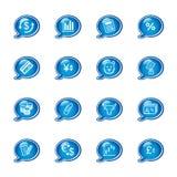 Iconos de las finanzas de la burbuja Imagen de archivo libre de regalías
