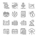 Iconos de las finanzas del negocio stock de ilustración