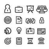 Iconos de las finanzas del negocio fijados Fotografía de archivo libre de regalías