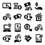 Iconos de las finanzas fijados libre illustration