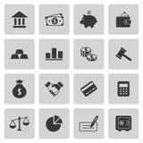 Iconos de las finanzas fijados Imagen de archivo