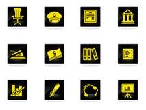 Iconos de las finanzas fijados Fotografía de archivo