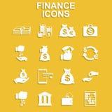 Iconos de las finanzas fijados Imagen de archivo libre de regalías