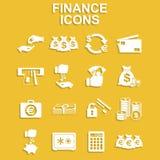 Iconos de las finanzas fijados Fotos de archivo libres de regalías