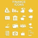 Iconos de las finanzas fijados Fotos de archivo