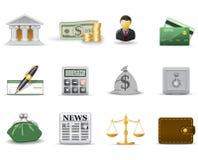 Iconos de las finanzas. Parte 1 Fotos de archivo libres de regalías
