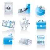 Iconos de las finanzas y de las actividades bancarias
