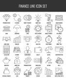 Iconos de las finanzas y de las actividades bancarias fijados libre illustration